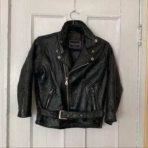 CLEARANCE | VTG Black Leather Moto Jacket